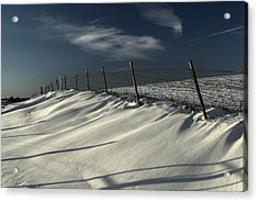 Winter On The South Downs Acrylic Print by Hazy Apple