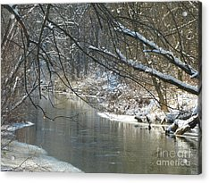 Winter On The Stream Acrylic Print