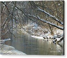 Winter On The Stream Acrylic Print