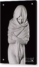 Winter Or The Chilly Woman Acrylic Print by Jean-Antoine Houdon