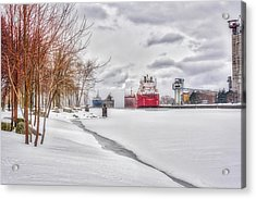 Winter Owen Sound Harbour Acrylic Print