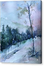 Winter Paradise Acrylic Print by Robin Miller-Bookhout