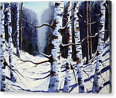 Winter Passage Acrylic Print by Wilfred McOstrich