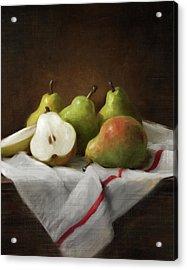 Winter Pears Acrylic Print