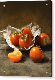 Winter Persimmons Acrylic Print