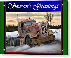 Winter Pete Season's Greetings Acrylic Print by Stuart Swartz