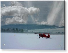 Acrylic Print featuring the photograph Winter Plane by Wayne King