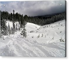 Acrylic Print featuring the photograph Winter Playground by Meagan  Visser