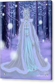 Acrylic Print featuring the painting Winter Queen by Amyla Silverflame