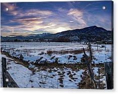 Sunset Range Acrylic Print