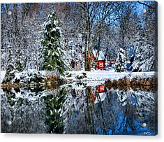 Winter Reflection Acrylic Print by Kristin Elmquist
