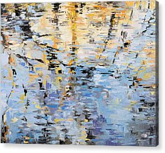 Winter Reflections Acrylic Print by Mike Moyers