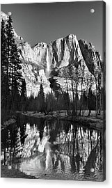 Acrylic Print featuring the photograph Winter Reflections - Yosemite by Stephen  Vecchiotti
