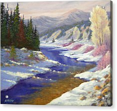 Winter Revisited  070712-97 Acrylic Print by Kenneth Shanika