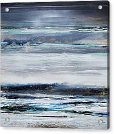 Winter Rhythms Redesdale Blue Series 2009 Acrylic Print by Mike   Bell