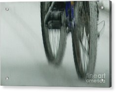 Winter Ride Acrylic Print by Linda Shafer