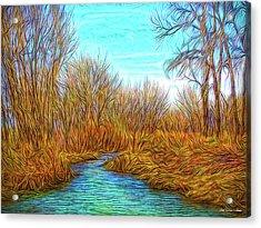 Winter River Breeze Acrylic Print