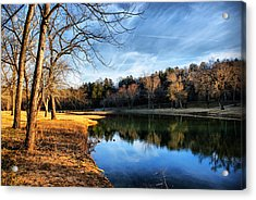 Winter River Acrylic Print by Rick Friedle