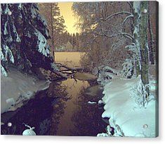 Acrylic Print featuring the photograph Winter River by Sami Tiainen