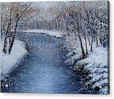 Winter River Acrylic Print