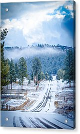 Acrylic Print featuring the photograph Winter Road by Jason Smith