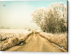 Winter Road Wonderland Acrylic Print
