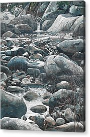 Winter Rocks Acrylic Print by Nadi Spencer