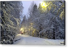 Acrylic Print featuring the photograph Winter Scene 5 by Sami Tiainen