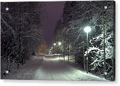 Acrylic Print featuring the photograph Winter Scene 6 by Sami Tiainen