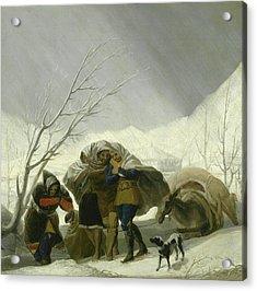 Winter Scene Acrylic Print by Goya
