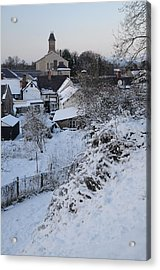 Winter Scene In North Wales Acrylic Print by Harry Robertson