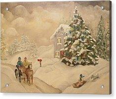 Winter Scene Acrylic Print by John Stuart Webbstock