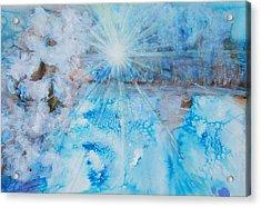 Winter Scene Acrylic Print by Tara Thelen