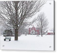 Winter Scene Acrylic Print by Tim Kirchoff