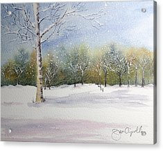 Winter Silence Acrylic Print by Jan Cipolla