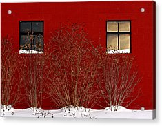 Acrylic Print featuring the photograph Winter Sky Reflection by Don Nieman