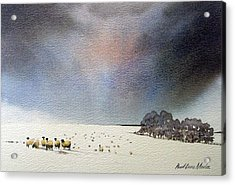 Winter Snow Swaledale Acrylic Print by Paul Dene Marlor