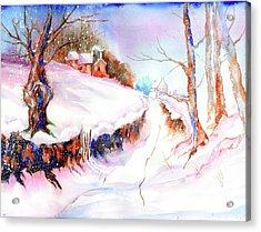 Winter Snow Acrylic Print