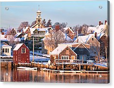 Winter Snowfall In Portsmouth Acrylic Print