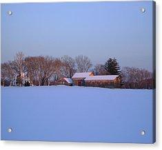 Winter Solace Acrylic Print by Leonardo Ruggieri