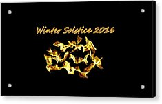 Winter Solstice Flame Acrylic Print by Aliceann Carlton