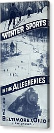 Winter Sports In The Alleghenies Acrylic Print
