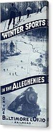 Winter Sports In The Alleghenies Acrylic Print