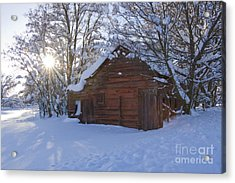 Winter Stable Acrylic Print