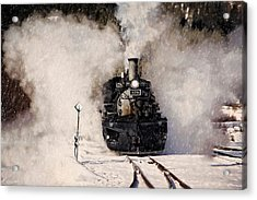 Winter Steam At Rockwood Colorado Acrylic Print