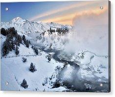 Winter Steam  Acrylic Print