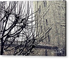 Winter Storm At The Cloisters 2 Acrylic Print