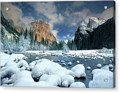 Acrylic Print featuring the photograph Winter Storm In Yosemite National Park by Dave Welling