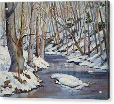 Winter Stream Acrylic Print by Bonita Waitl