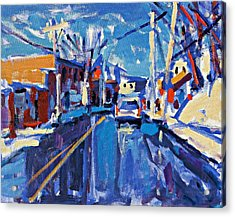 Winter Street Acrylic Print by Brian Simons